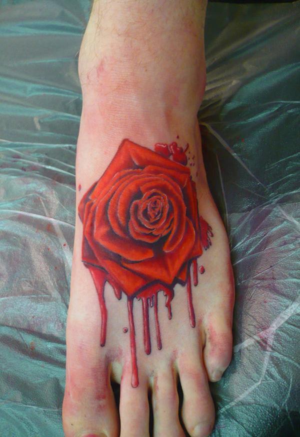tăng hình xăm trên chân - 50 ảnh vui nhộn Tattoo Designs Foot <3 <3