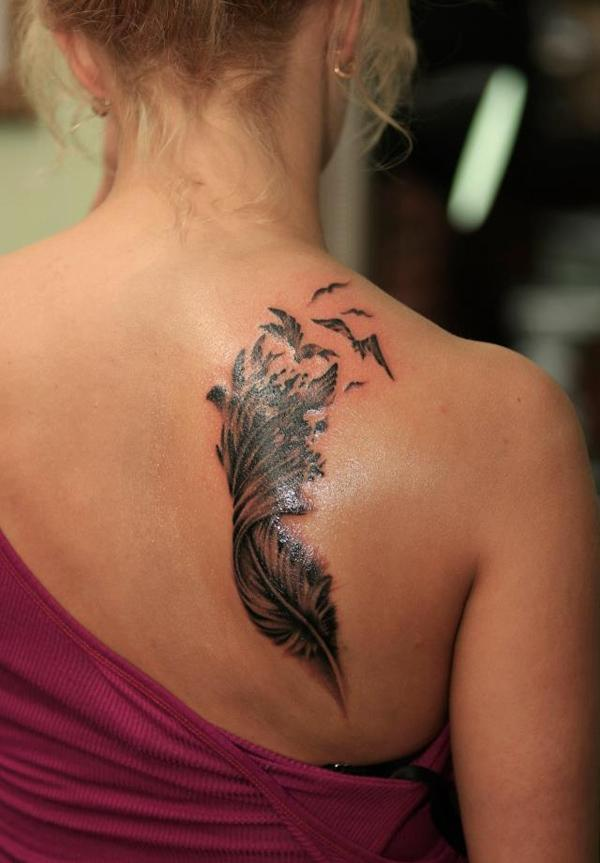 675951222 50 Beautiful Feather Tattoo Designs | Art and Design
