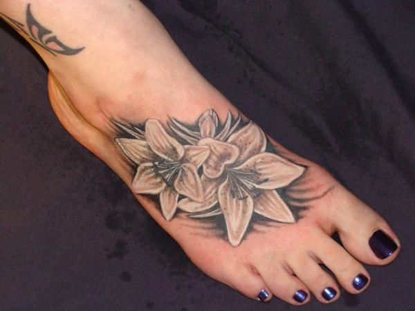 50 awesome foot tattoo designs art and design. Black Bedroom Furniture Sets. Home Design Ideas