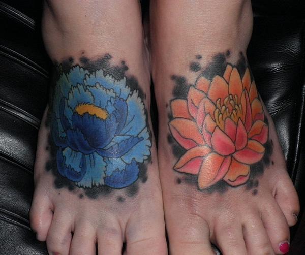 hoa - 50 ảnh vui nhộn Tattoo Designs Foot <3 <3