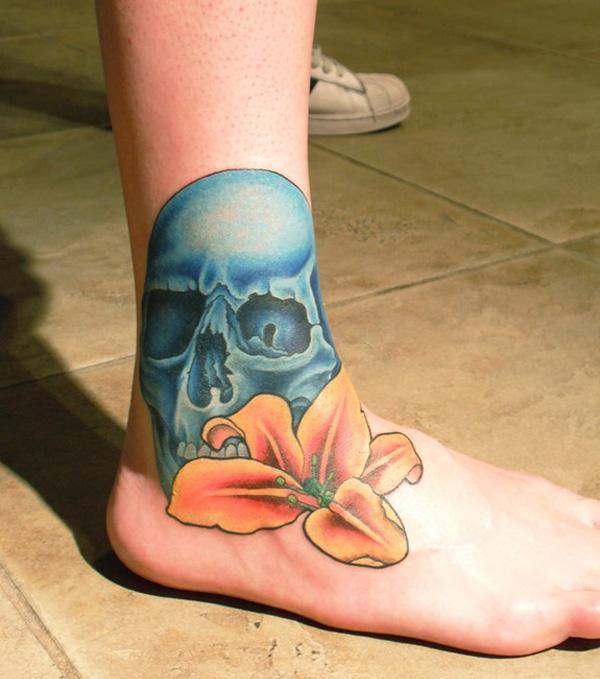 hình xăm và hình xăm hoa huệ trên bàn chân - 50 ảnh vui nhộn Foot Tattoo Designs <3 <3