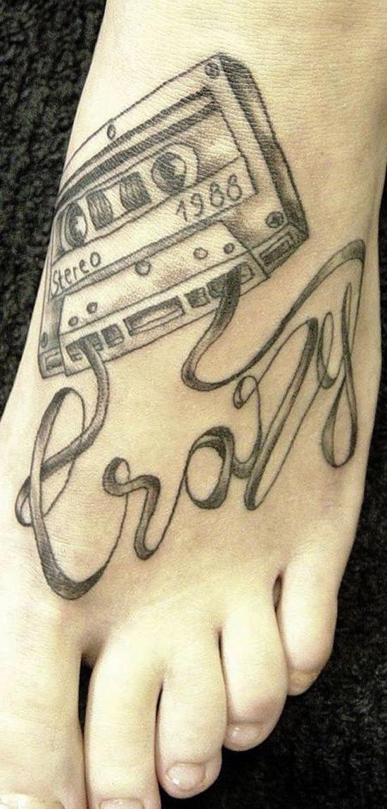 băng hình xăm trên chân - 50 ảnh vui nhộn Tattoo Designs Foot <3 <3