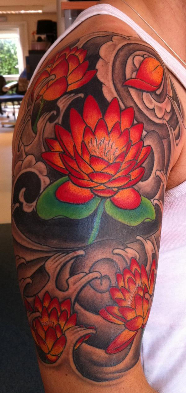 Nhật xăm hoa sen, coverup - 50 elegent Lotus Tattoo Designs <3 <3