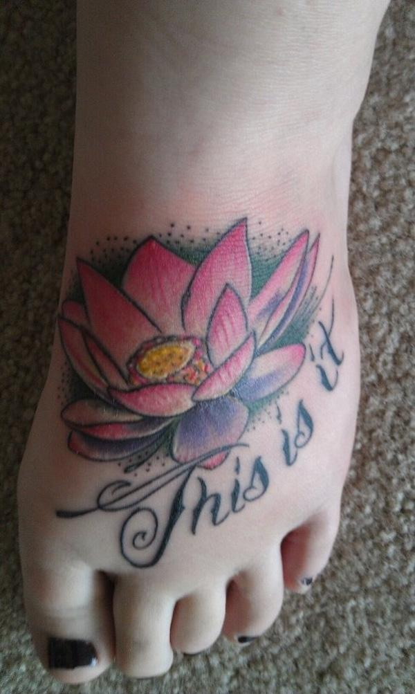 sen hình xăm trên chân - 50 ảnh vui nhộn Tattoo Designs Foot <3 <3