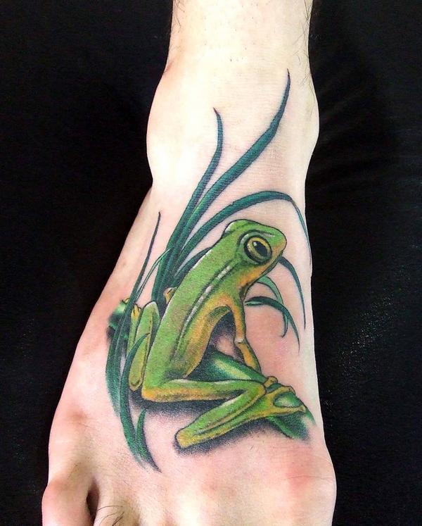 hình xăm con ếch chân - 50 ảnh vui nhộn Foot Tattoo Designs <3 <3