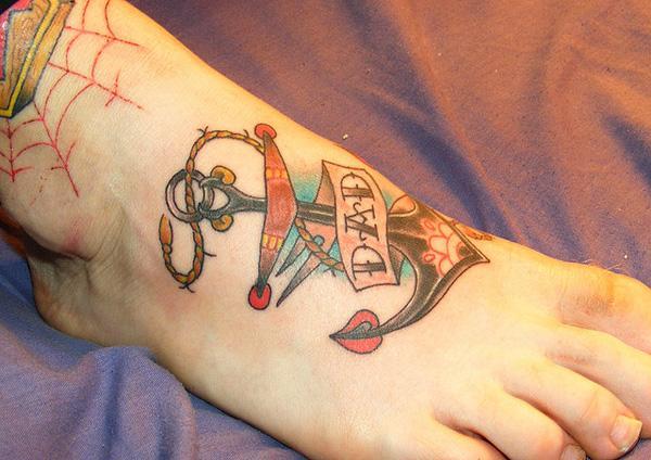 neo hình xăm trên chân - 50 ảnh vui nhộn Tattoo Designs Foot <3 <3