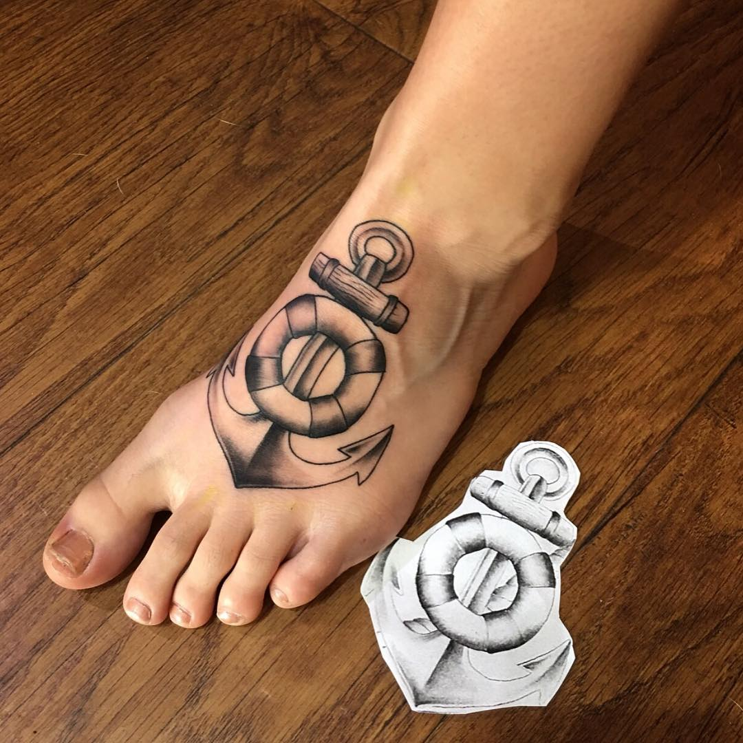 50 Awesome Foot Tattoo Designs | Art And Design