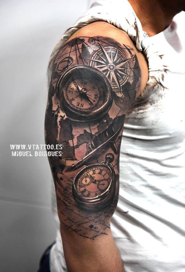 realistic-and-wath-tattoo-on-half-sleeve-44