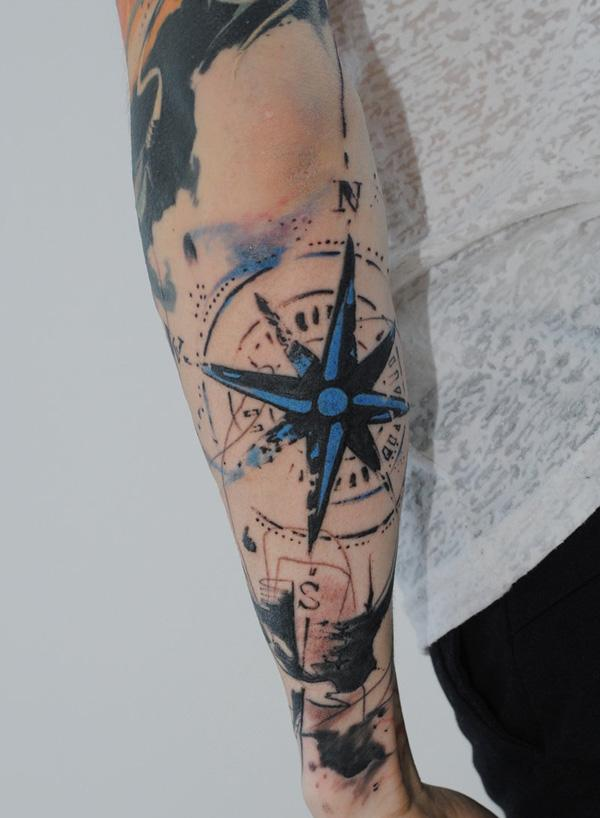 100 awesome compass tattoo designs art and design 100 awesome compass tattoo designs 3 gumiabroncs Choice Image