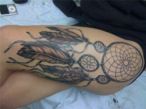 Side Thigh Tattoo