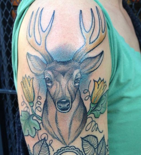 tiger watercolor tattoo