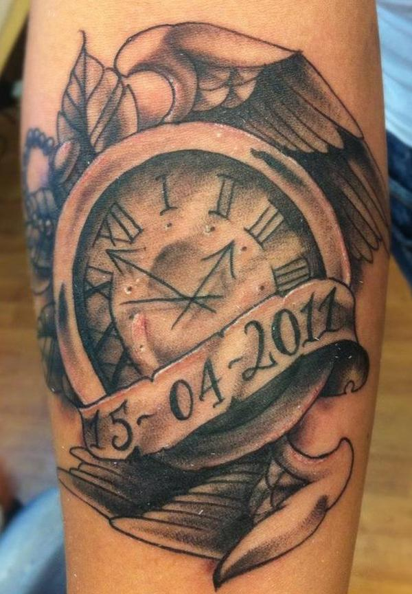 Clock Tattoo Meaning 40 Awesome Watch Designs Art And Design