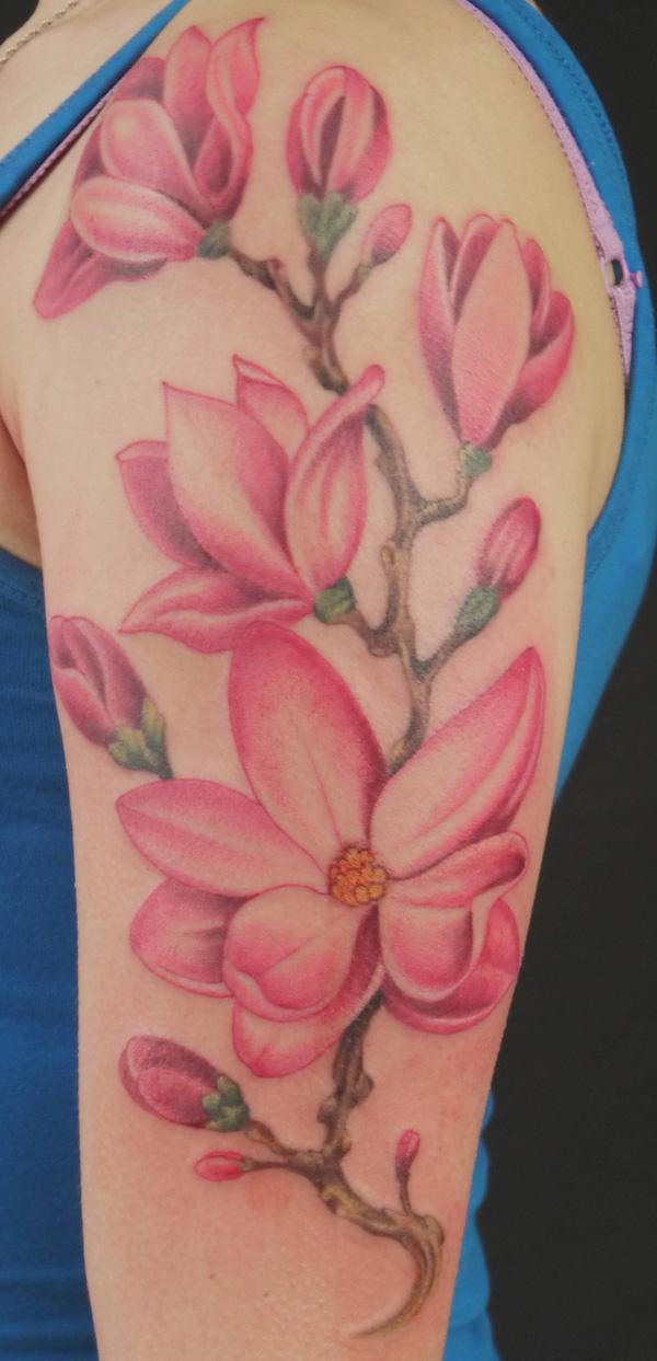 Magnolia Tree Side Tattoo Magnolia tattoo