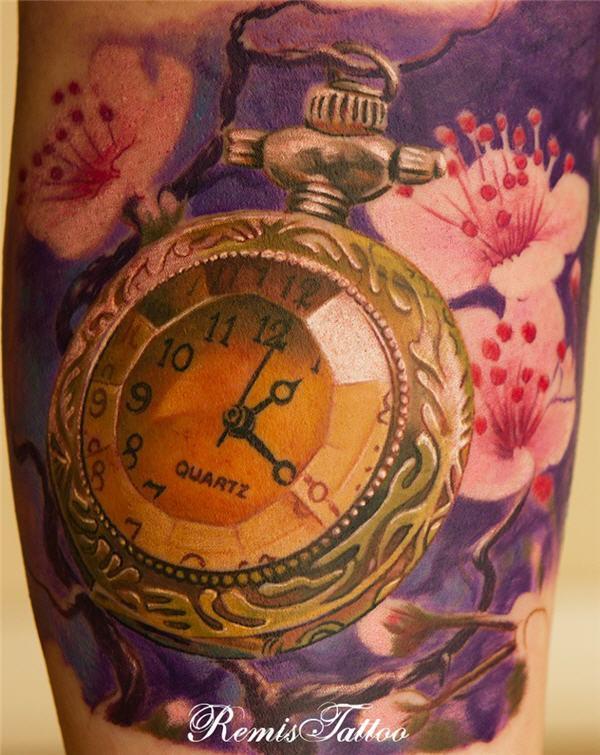 timepiece tattoos on pinterest clock tattoos pocket watch tattoos and clock. Black Bedroom Furniture Sets. Home Design Ideas