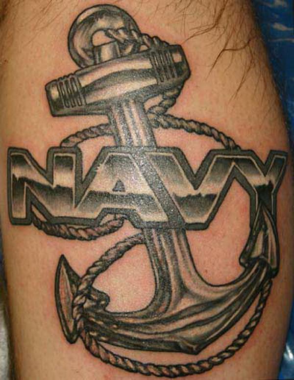 Тату якорь у моряков