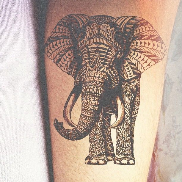 8de99d0989735 Elephant Tattoo - 50+ Awesome Animal Tattoo Designs <3 <3 ...