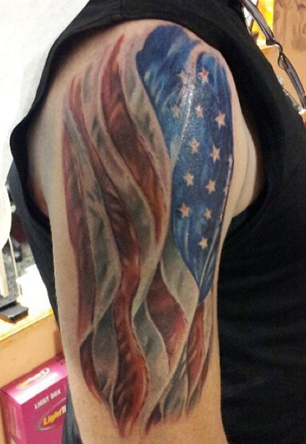 2ed936ac4dc18 25 Awesome American Flag Tattoo Designs | Art and Design