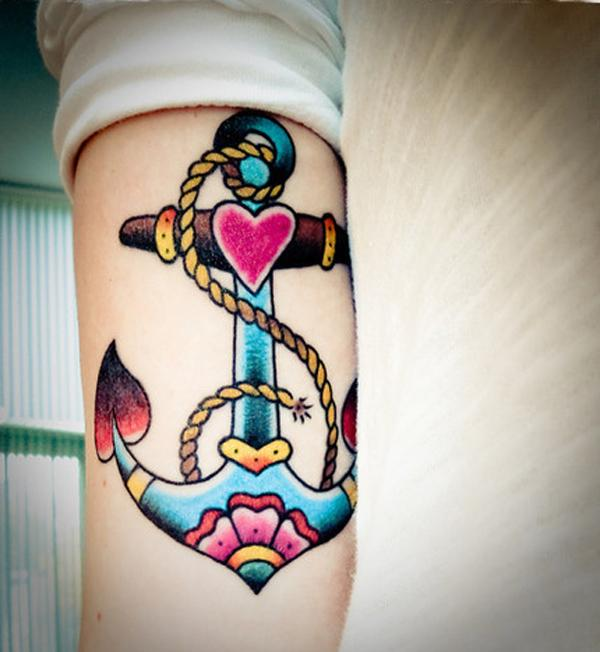 anchor tattoo on arm - 35 Awesome Anchor tattoo Designs
