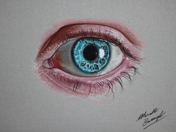 Eyes Blue Drawing Blue Eye Drawing Marcello