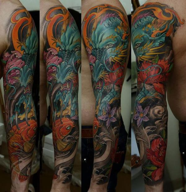 33d61f43b 95 Awesome Examples of Full Sleeve Tattoo Ideas | Art and Design