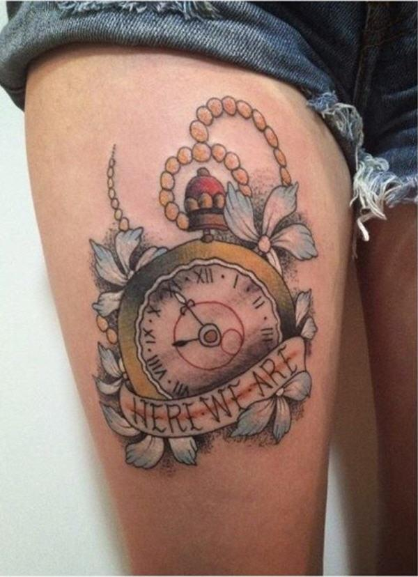 Gallery For gt Clock Tattoo Designs Men