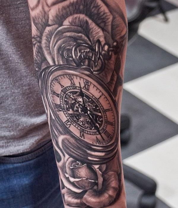 3d-watch-and-flower-sleeve-tattoo-74