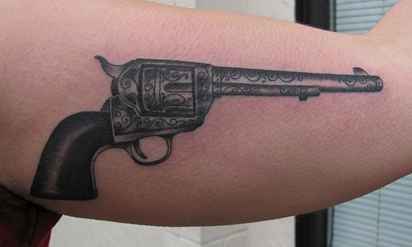25f6486e8 Revolver Gun Tattoo - 35 Awesome Gun Tattoo Designs <3 <3 ...