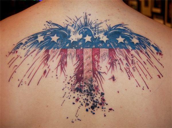 efa3d7f78 American Flag and Eagle Tattoo - 25 Awesome American Flag Tattoo Designs <3  <3 ...