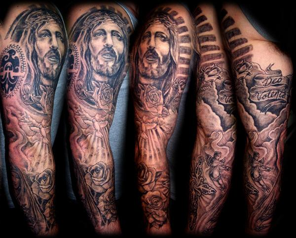 Portrait Tattoo Sleeve Ideas