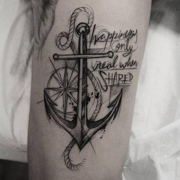 cf4ab4695 60 Awesome Anchor tattoo Designs | Art and Design