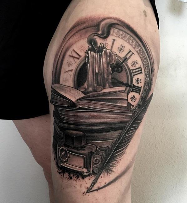 clock-and-books-tattoo-96