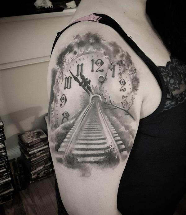 clock-train-track-tattoo-45
