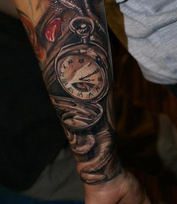 pocket-watch-forearm-tattoo-for-man-75