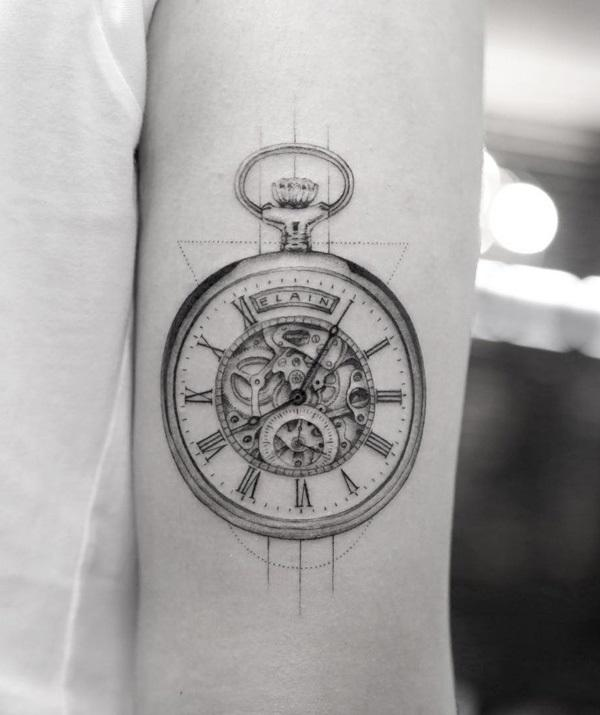 Pocket watch tattoo sketch  100 Awesome Watch Tattoo Designs | Art and Design