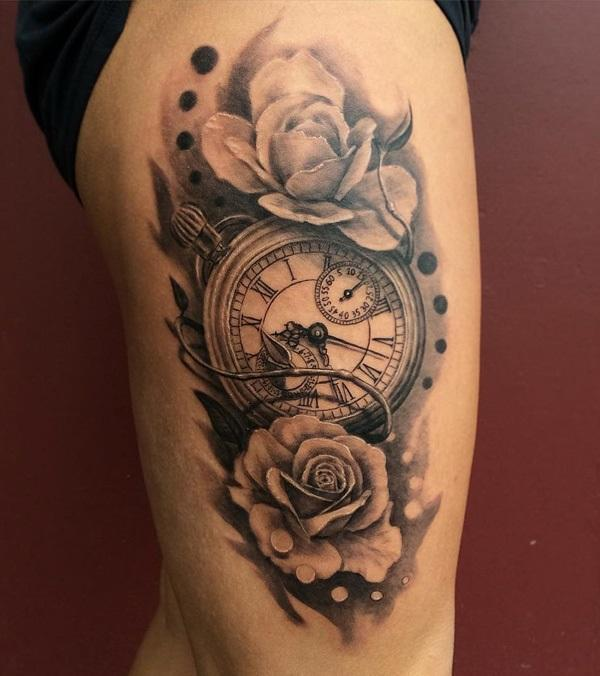 pocket-watch-with-rose-thigh-tattoo-66