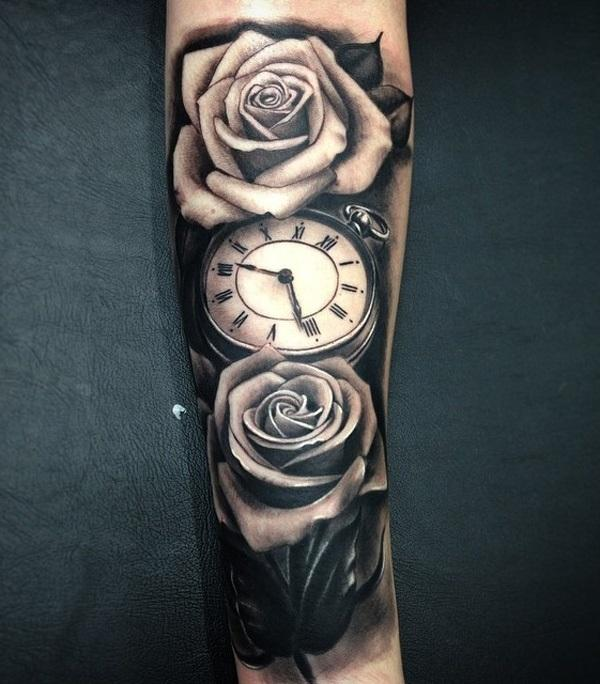 relistic-pocket-watch-and-rose-forearm-tattoo-71