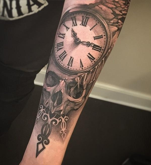 relistic-watch-and-skull-forearm-tattoo-for-man-90