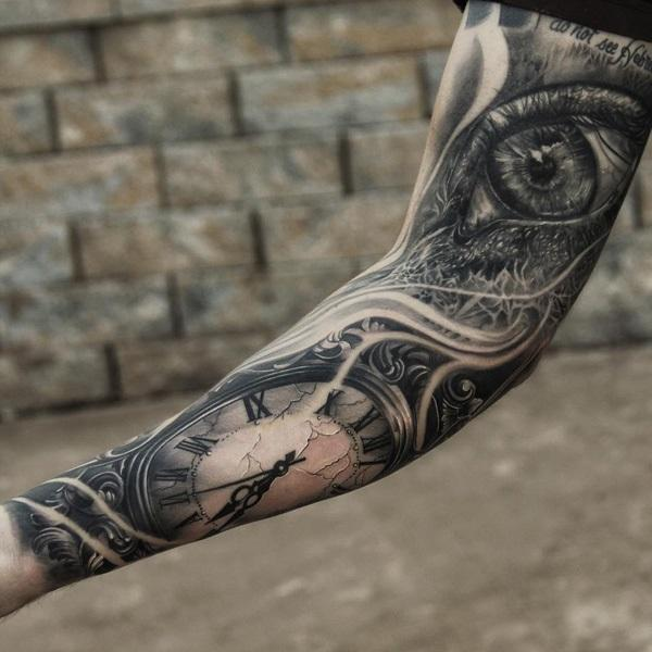 watch-and-eye-tattoo-on-full-sleeve-44