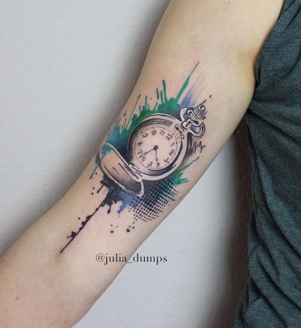 watercolor-pocket-watch-tattoo-83