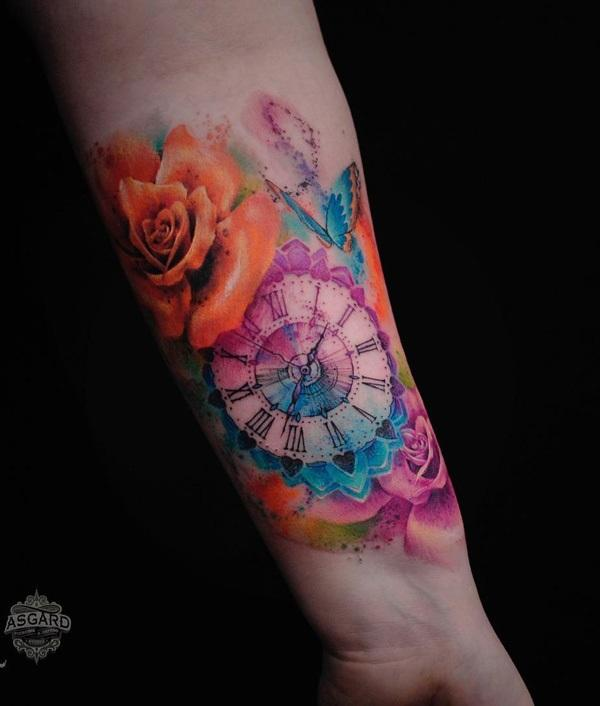 watercolor-watch-and-rose-tattoo-49