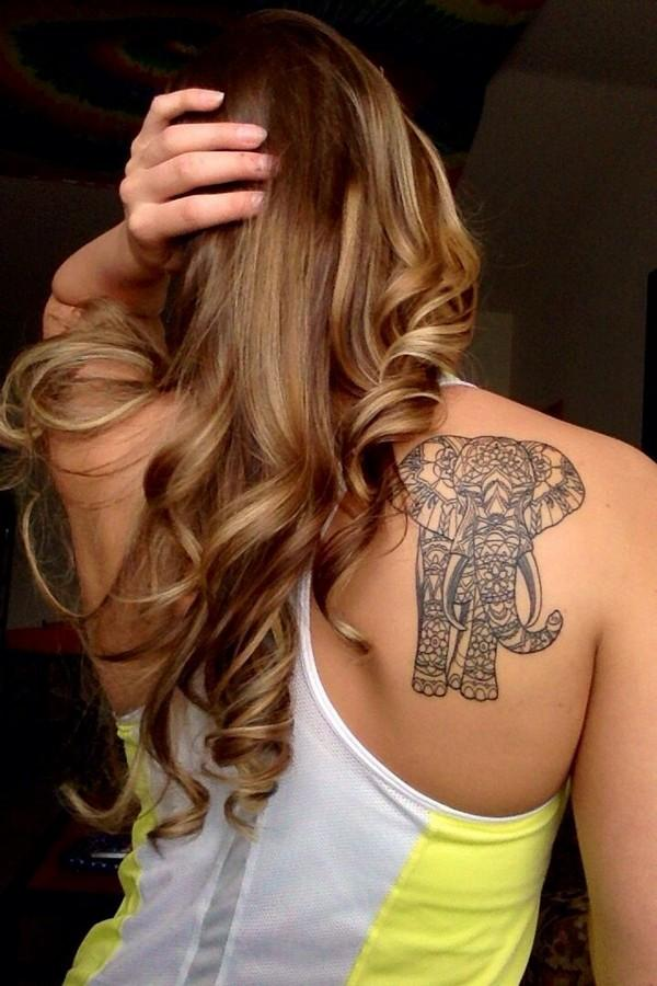 elephant tattoo for women