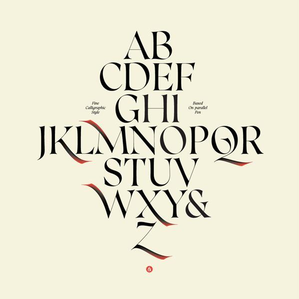 英文字体海报设计