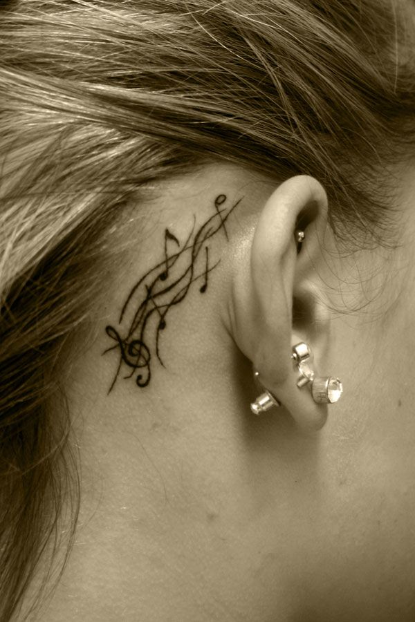 Small music notes tattoo