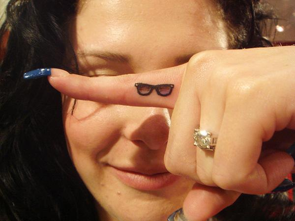 Small sunglasses tattoo