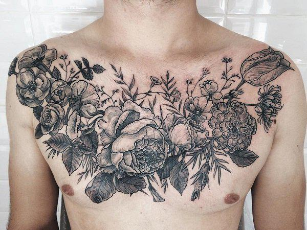 chest flower tattoos flowers ideas for review