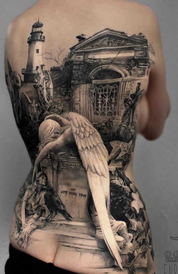 Lost Eden back tattoo