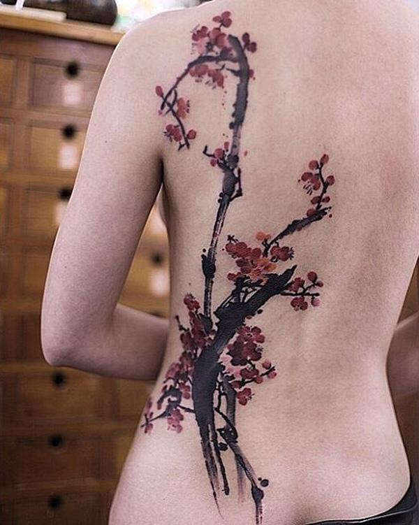 cherry-blossoms-back-tattoo-84