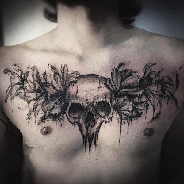 75 Nice Chest Tattoo Ideas   Art and Design