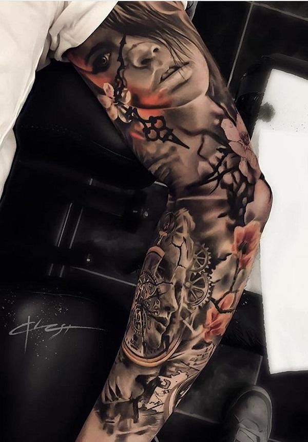 3dd6f1d9d Full sleeve tattoo - 95 Awesome Examples of Full Sleeve Tattoo Ideas ...