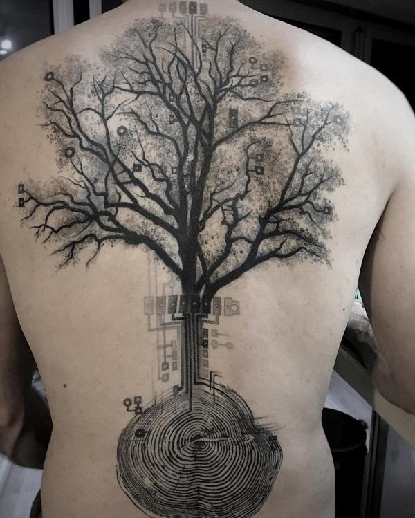tree back tattoo